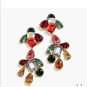 Crystal cluster chandelier CLIP ON earrings